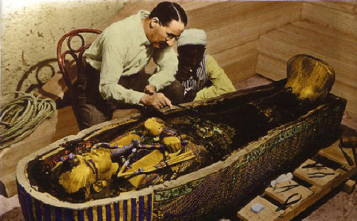 Howard Carter bij toetanchamon-graf